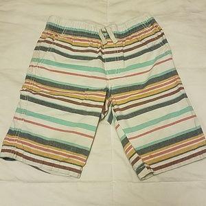 Little boy striped shorts